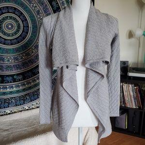 Tahari 100% Merino Wool Open Cardigan